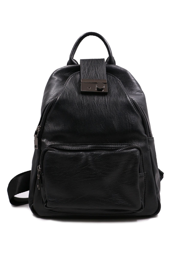 Black Zipper Closure Backpack