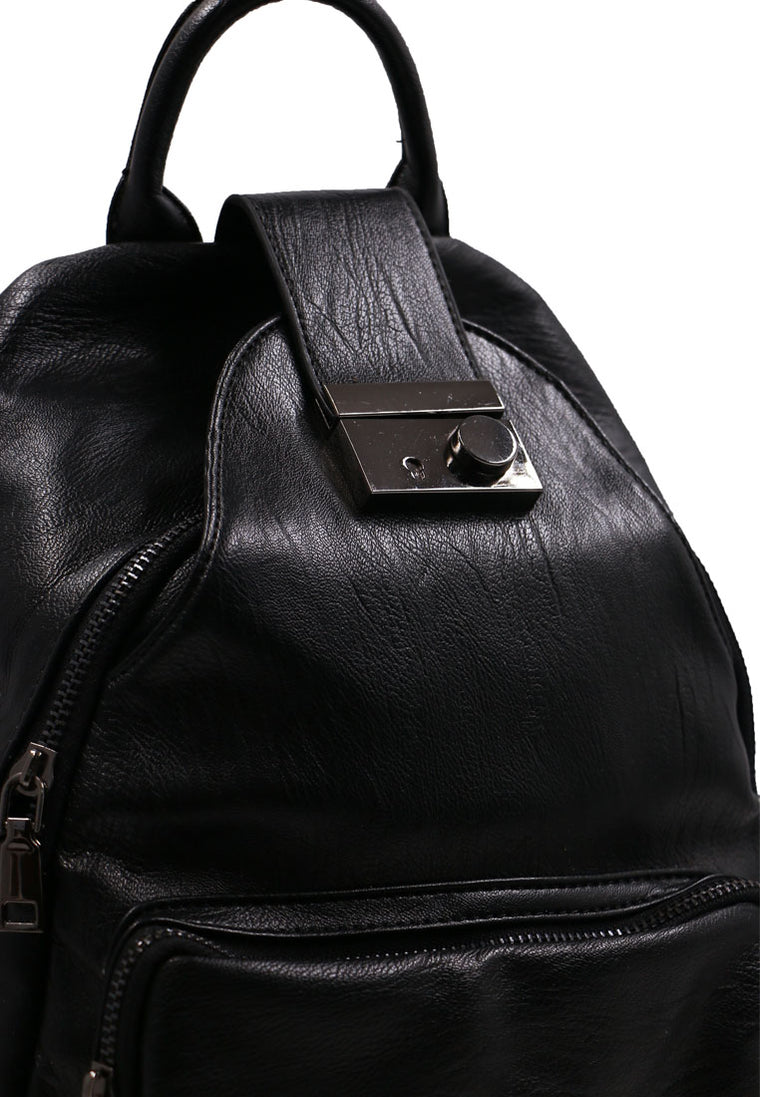 Black Backpack side