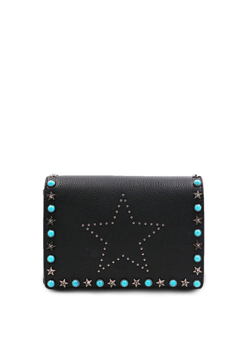 Blue Rivet Handbag front