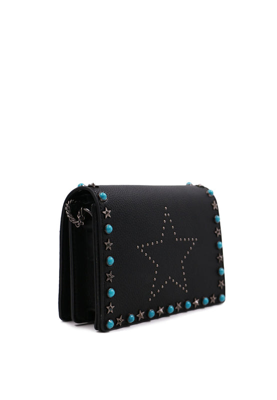 Blue Rivet Handbag side