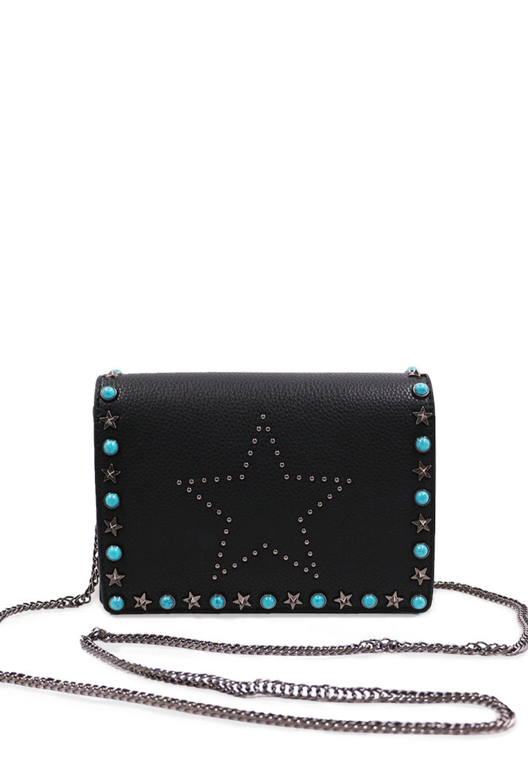 Blue Rivet Handbag