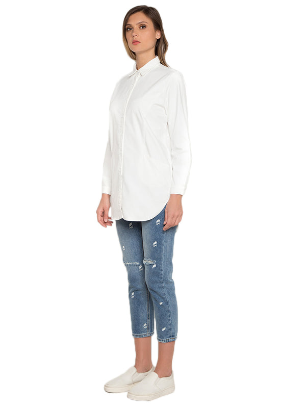 High Low Long Sleeve Shirt leftside