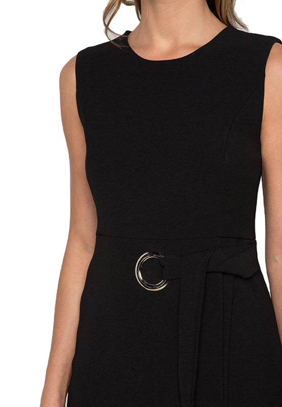 Circled Sheath Midi Dress closeup