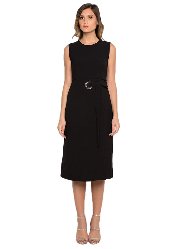 Circled Sheath Midi Dress