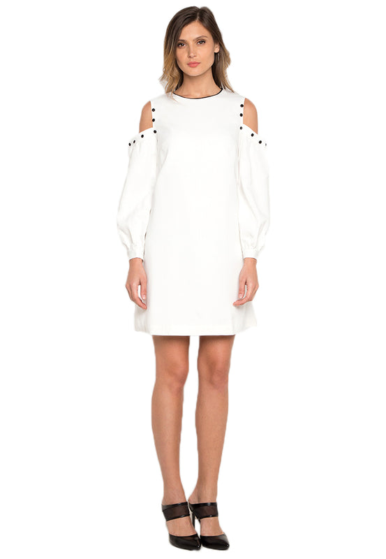 Cold Shoulder Dress white