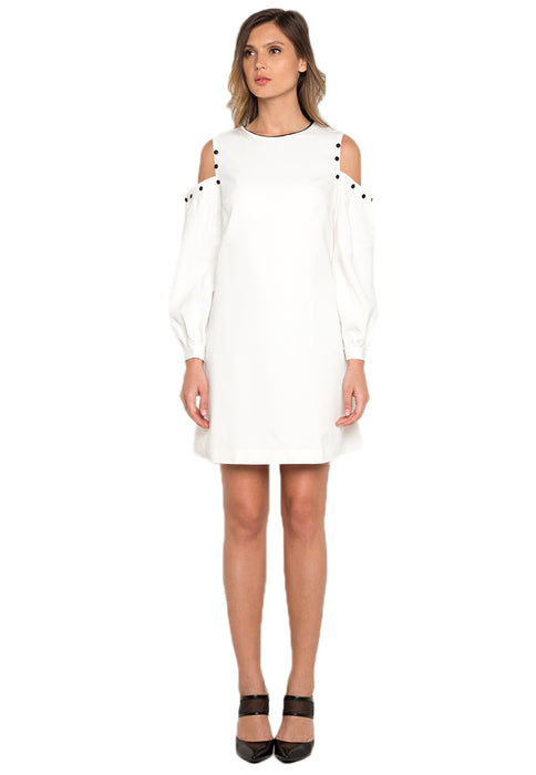 Cold Shoulder Dress white frontside