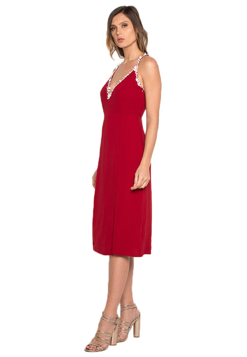 Midi Dress with Slit leftside
