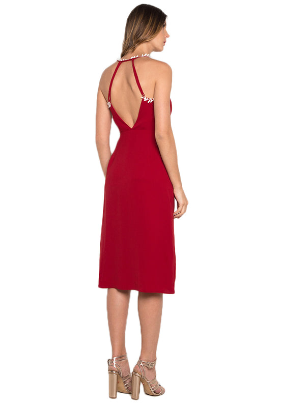 Midi Dress with Slit backside