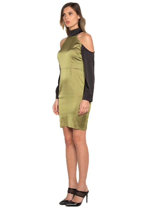 Paneled Sheath Short Dress leftside
