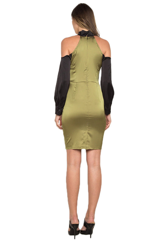 Paneled Sheath Short Dress backside