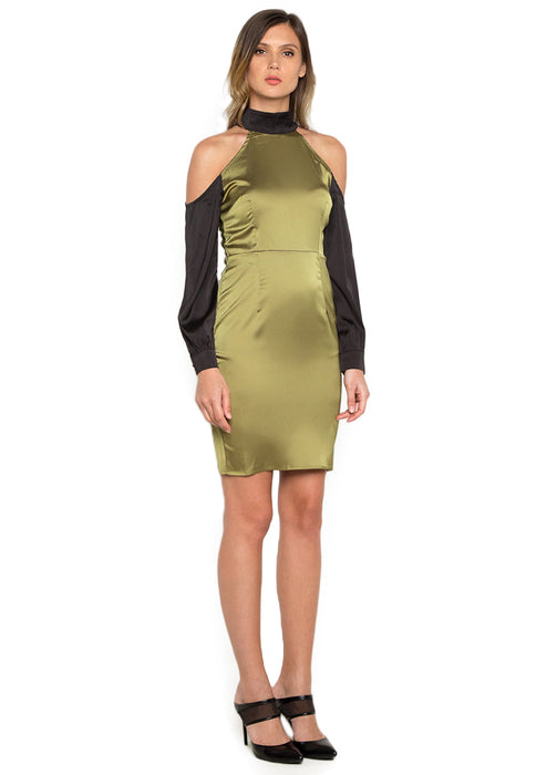 Paneled Sheath Short Dress rightside