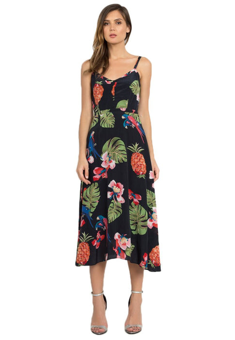 Leia Silk Midi Dress