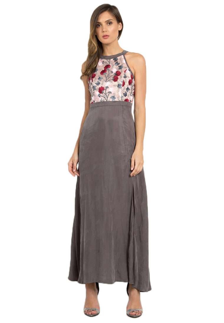 Coralie Floral Embroidered Maxi