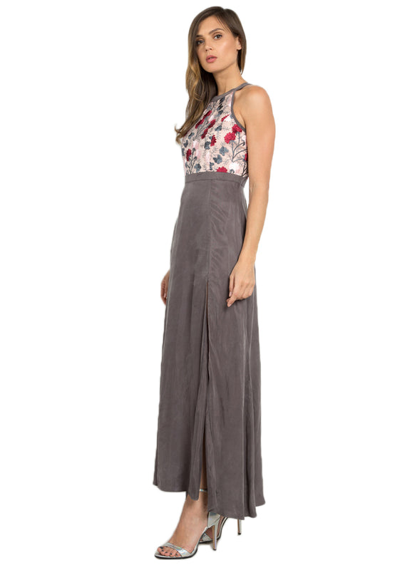 Leia Floral Maxi Dress leftside