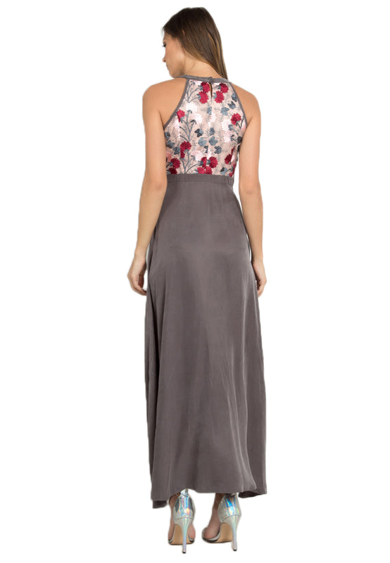 Leia Floral Maxi Dress backside