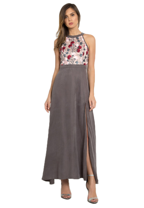 Leia Floral Maxi Dress frontside
