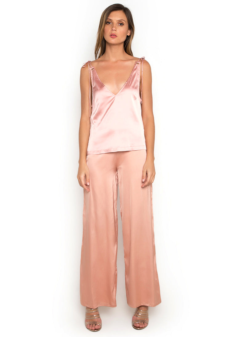 Evening Blush Satin Top