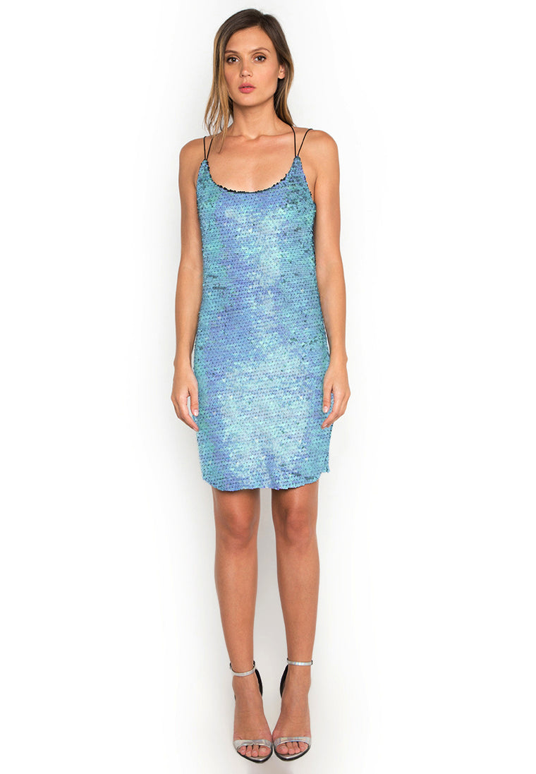 Aqua Sequin Dress