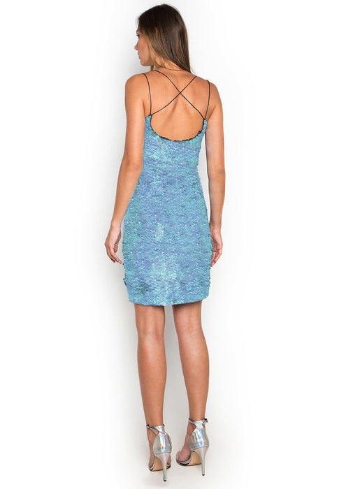 Leia Sequins Slip Dress backside