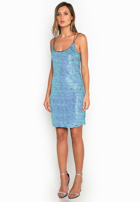 Leia Sequins Slip Dress frontside