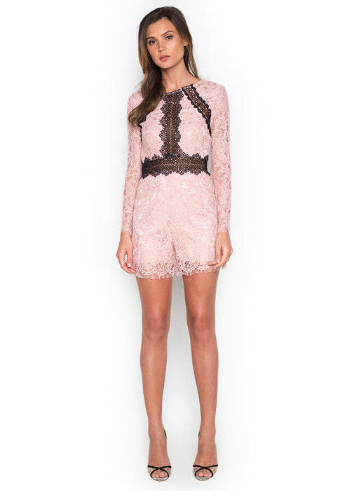 Grace Long Sleeve Romper frontside