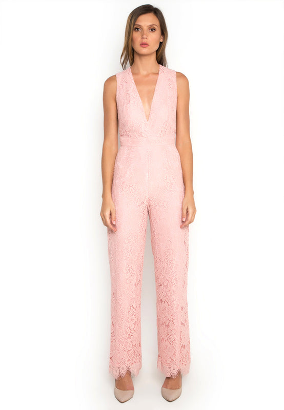 V Neck Sleeveless Jumpsuit