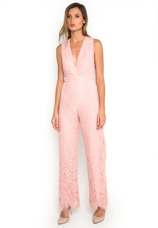 V Neck Sleeveless Jumpsuit frontside