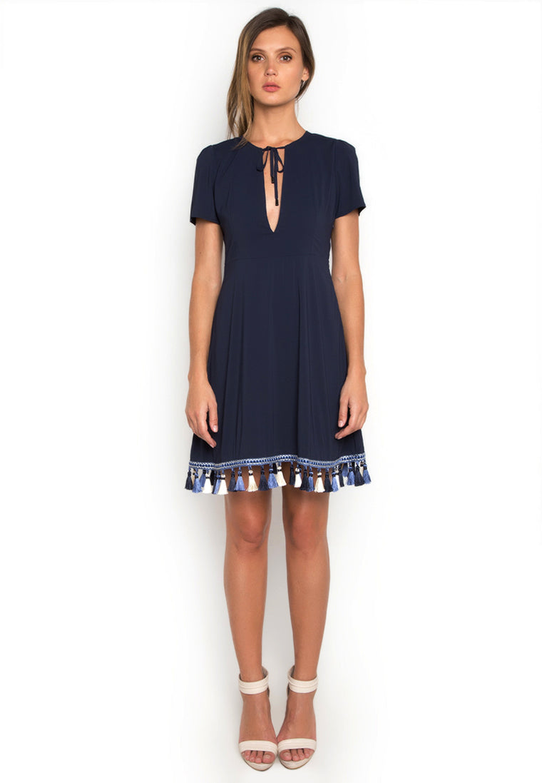 Trimmed Hem Casual Dress