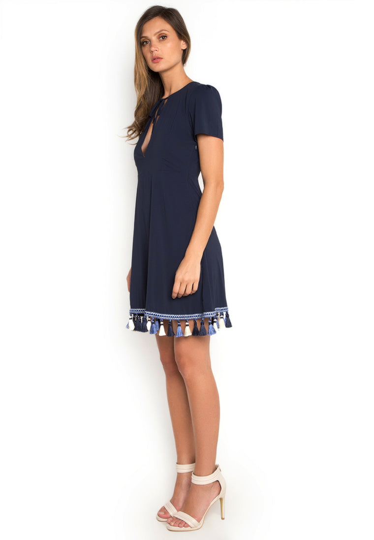 Trimmed Hem Casual Dress nomodel