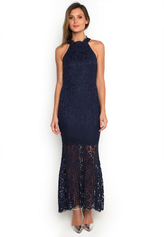 Halter Laced Maxi Dress
