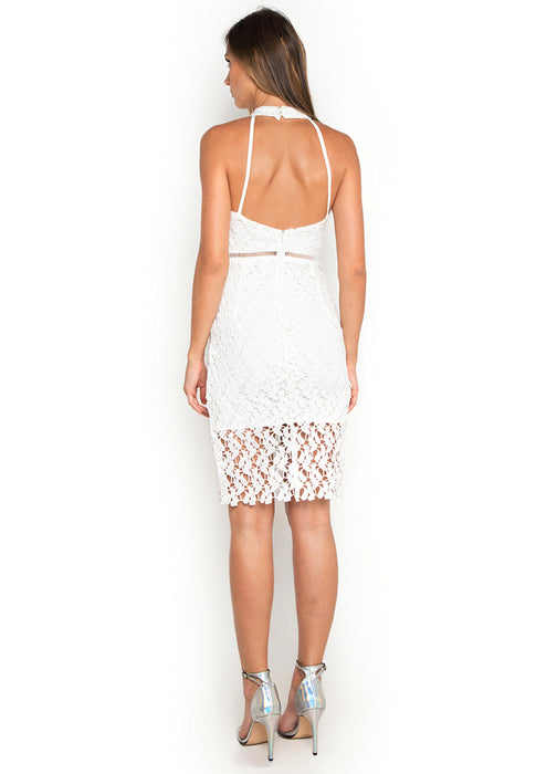 Hollow Out Crochet Dress backside
