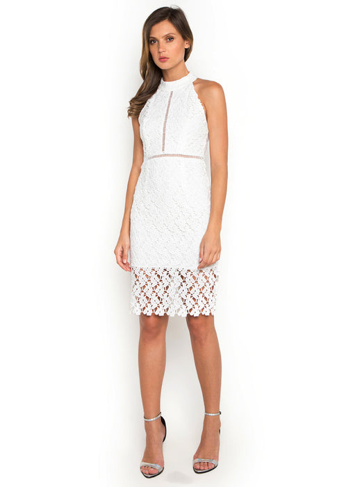 Hollow Out Crochet Dress frontside