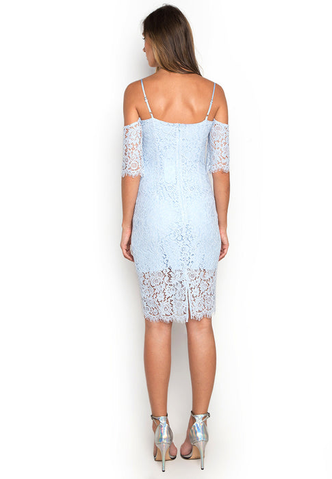 Off Shoulder Lace Dress backside