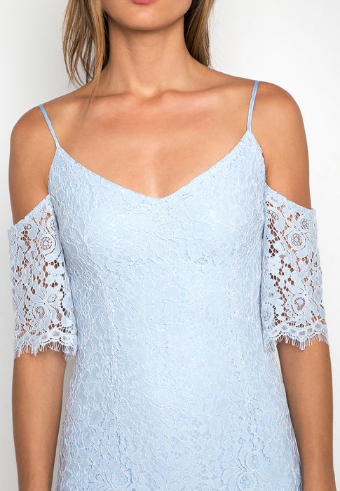 Off Shoulder Lace Dress closeup