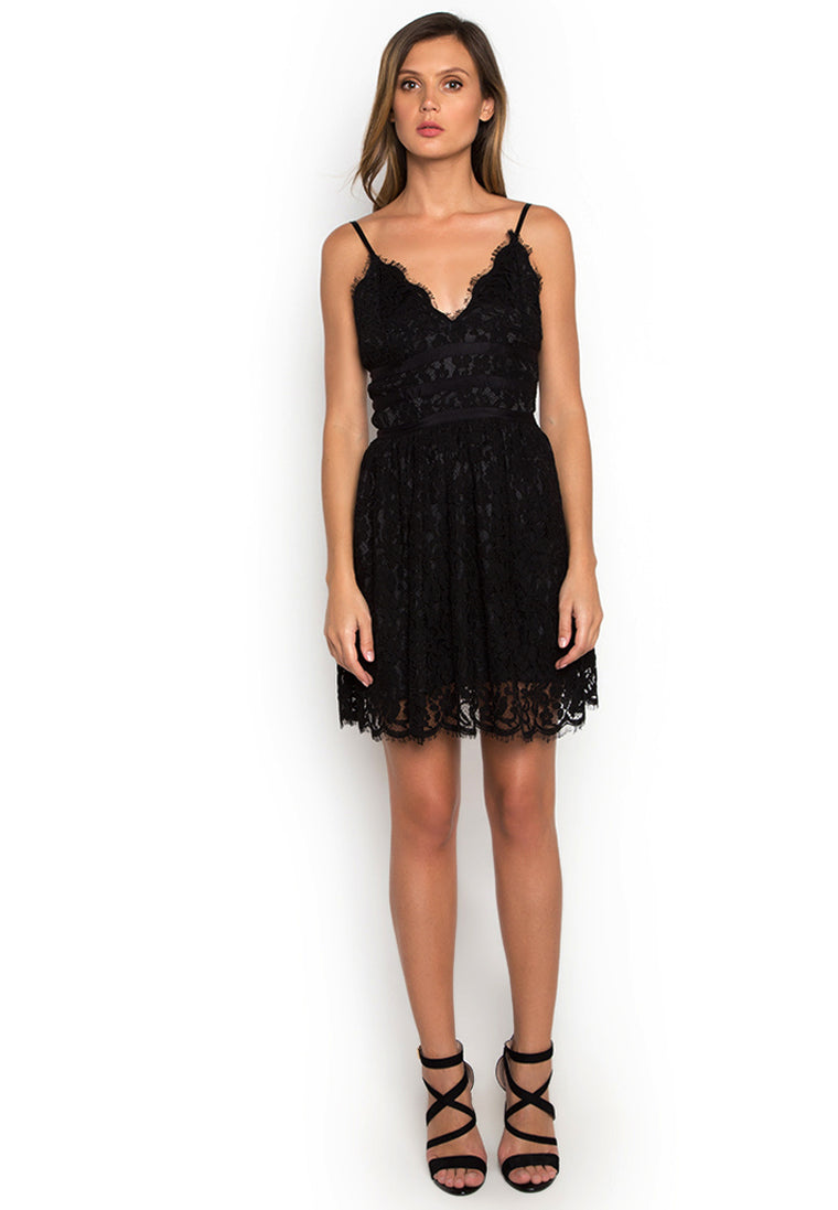 Black Nina Lace Dress