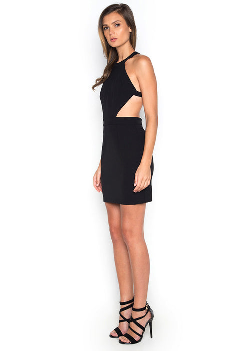 Backless Halter Dress leftside