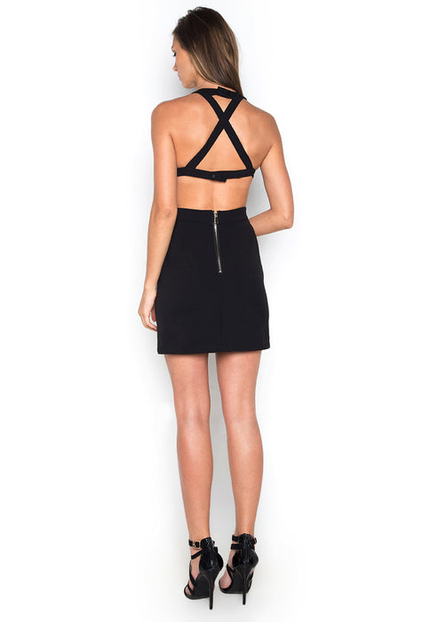 Backless Halter Dress backside
