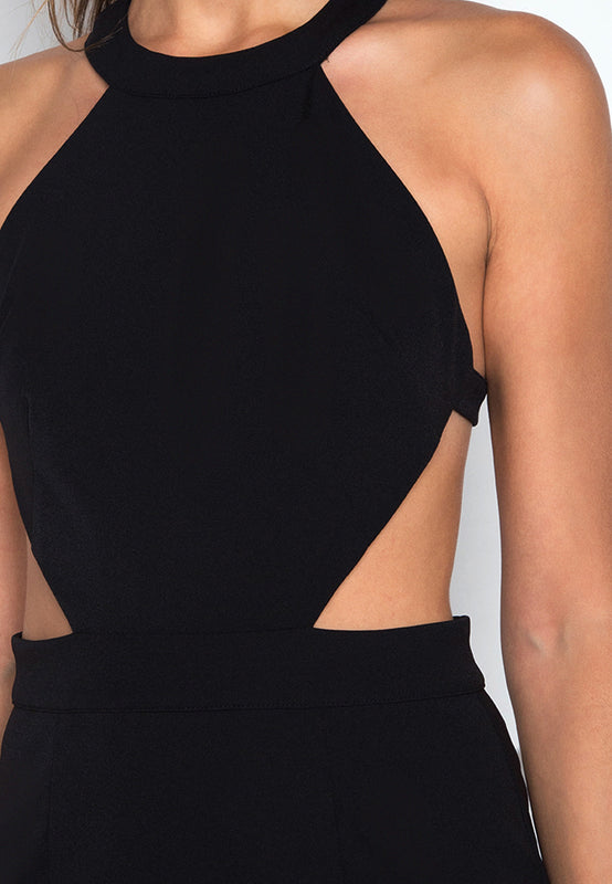 Backless Halter Dress closeup