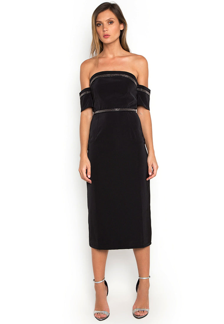 Black Veronique Off Shoulder Dress