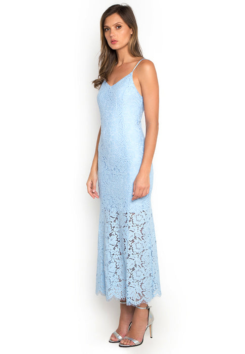 Laced Mermaid Maxi Dress leftside