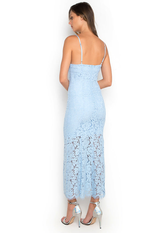 Laced Mermaid Maxi Dress backside