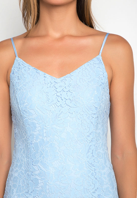 Laced Mermaid Maxi Dress closeup