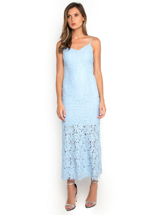 Laced Mermaid Maxi Dress frontside