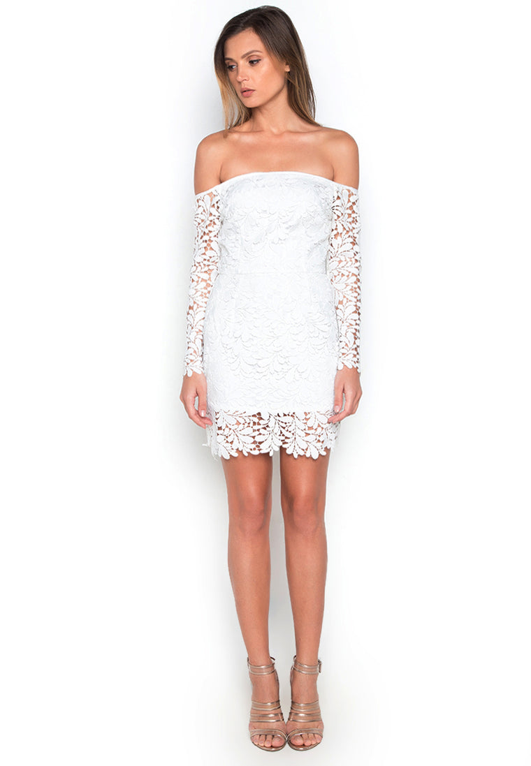 Bardot White Lace Dress