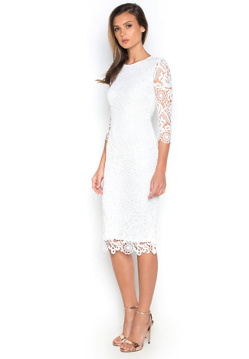 Long Sleeve Crochet Dress leftside