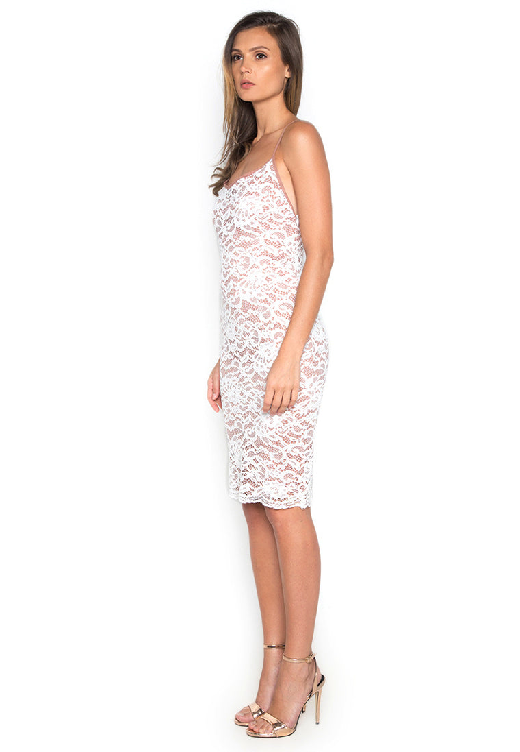 Lace Slip Bodycon Dress nomodel
