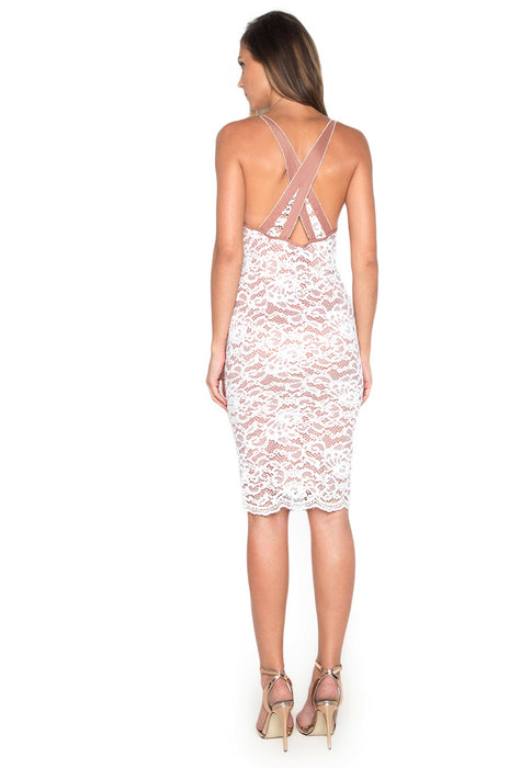 Lace Slip Bodycon Dress bacside