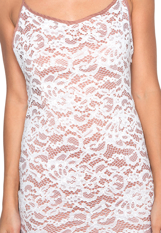 Lace Slip Bodycon Dress closeup