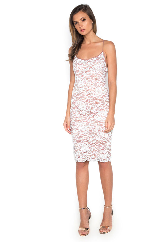Lace Slip Bodycon Dress frontside