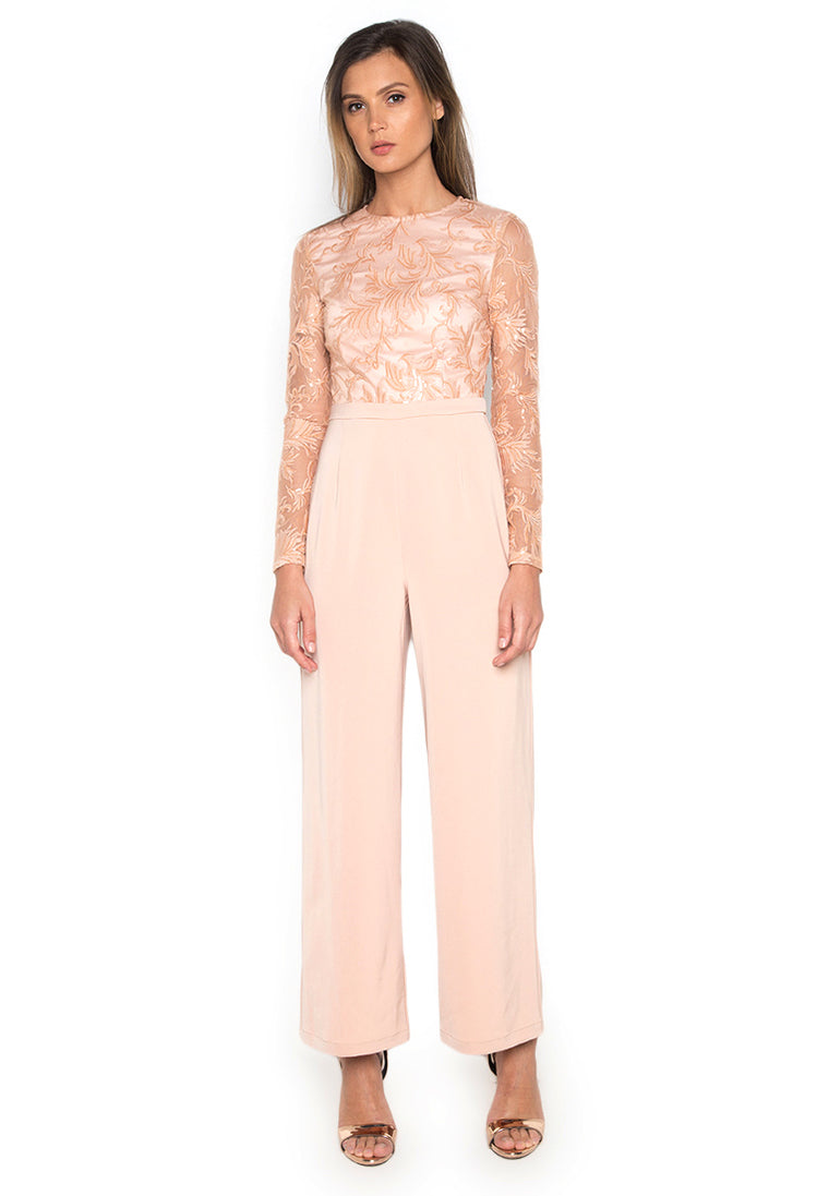 Camilla Peach Lace Jumpsuit